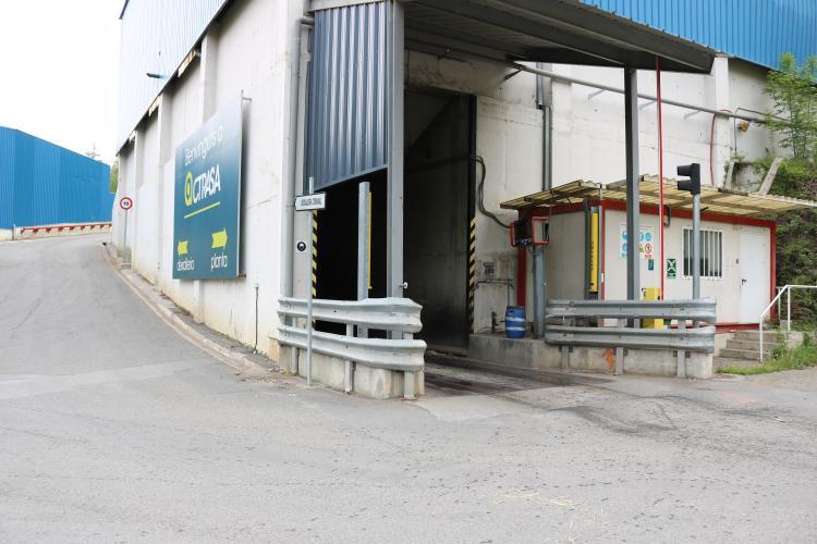 Entrada a les instal·lacions del Centre de Tractament de Residus